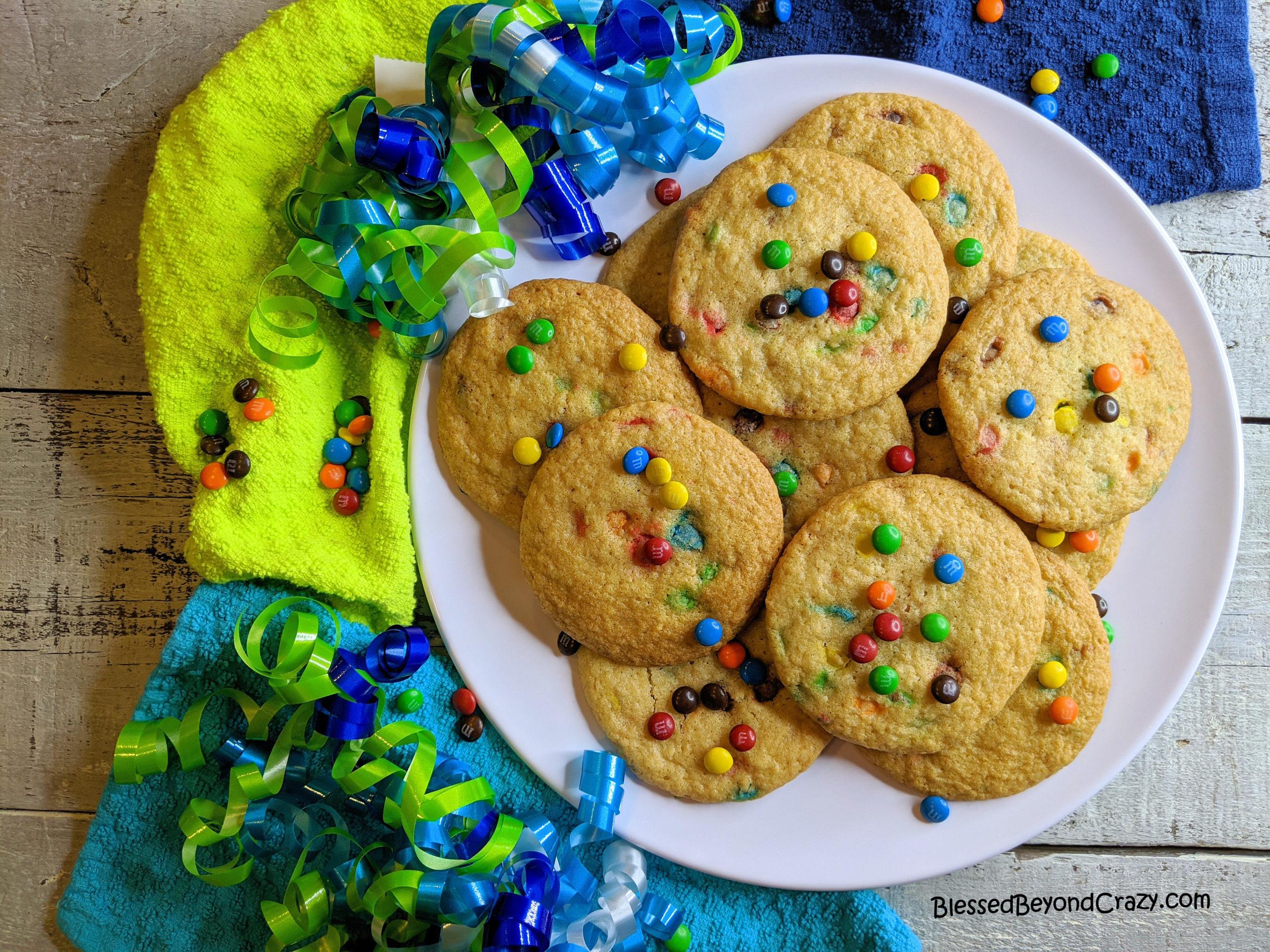 Festive plate of Kid's Favorite Gluten-Free Jumbo Cookies
