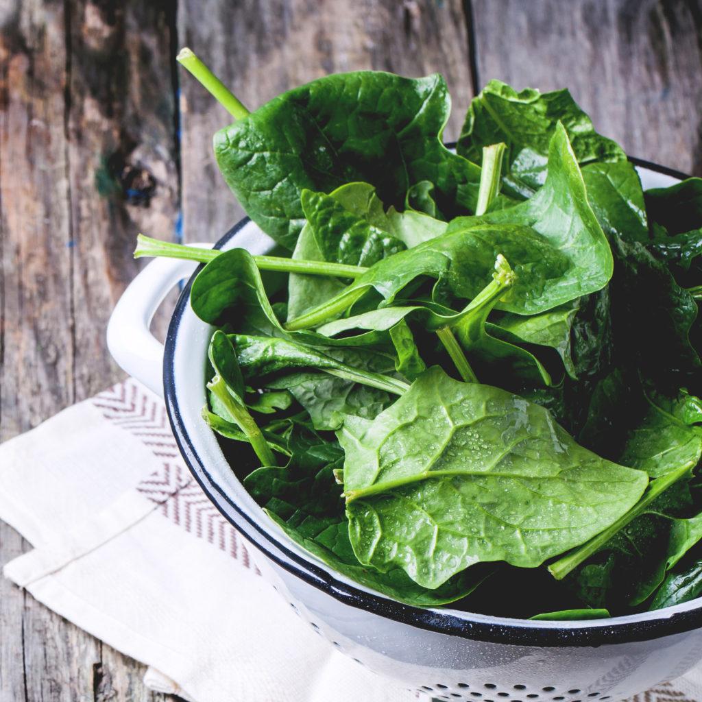 Fresh organic spinach.