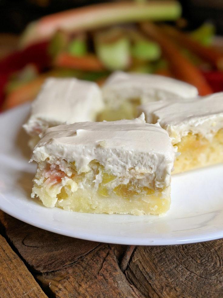 Rhubarb Custard Dessert Bars