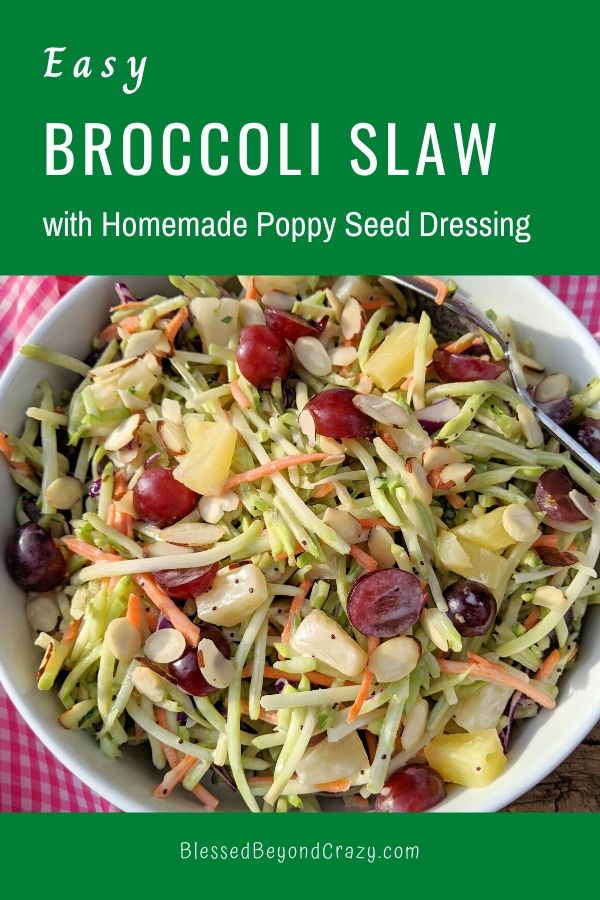Easy Broccoli Slaw with Homemade Poppy Seed Dressing