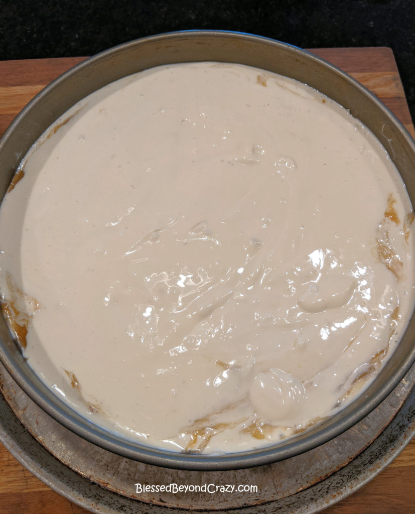 Second layer of cream cheese filling.