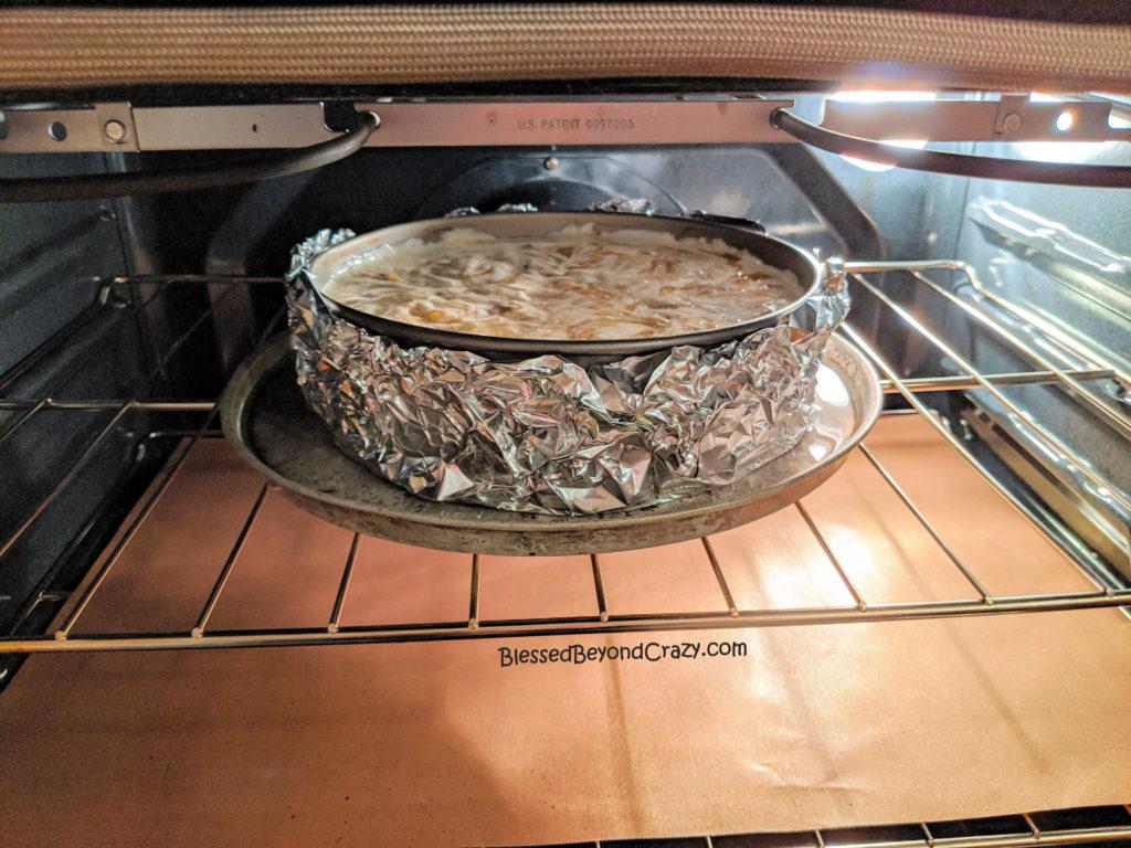 Baking Rhubarb Swirl Cheesecake