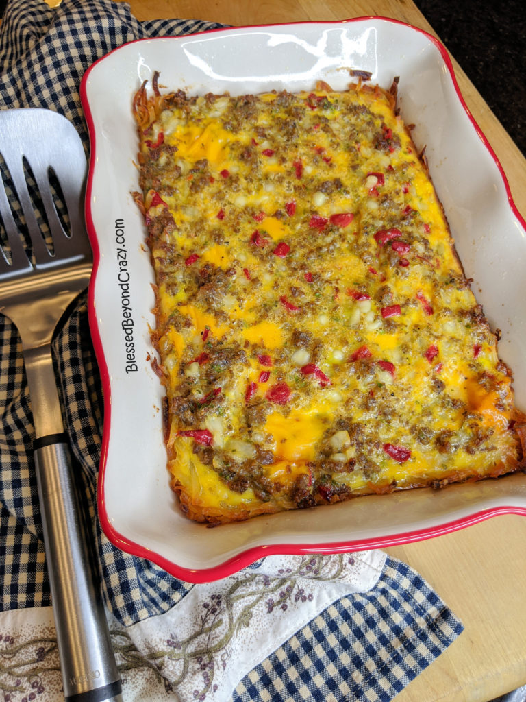 Freshly Baked Simple Gluten-Free Breakfast Casserole