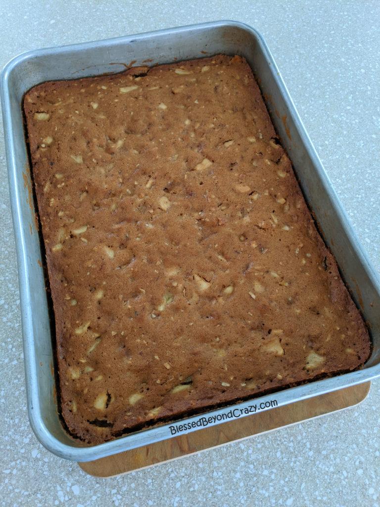 Freshly baked apple cake.
