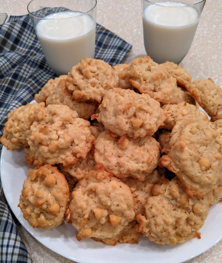 Easy Rice Krispies Butterscotch Coconut Cookies