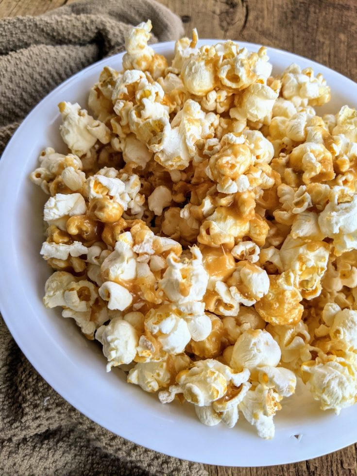 Easy Stove-top Caramel Popcorn (GF)