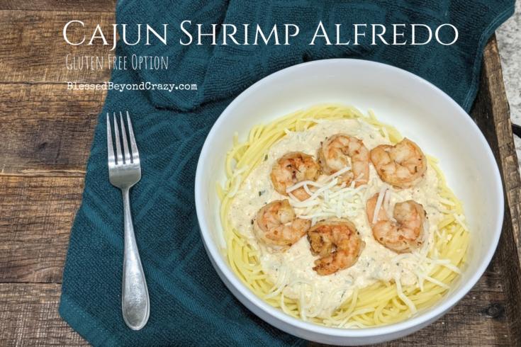 Cajun Shrimp Alfredo (Gluten-Free Option)