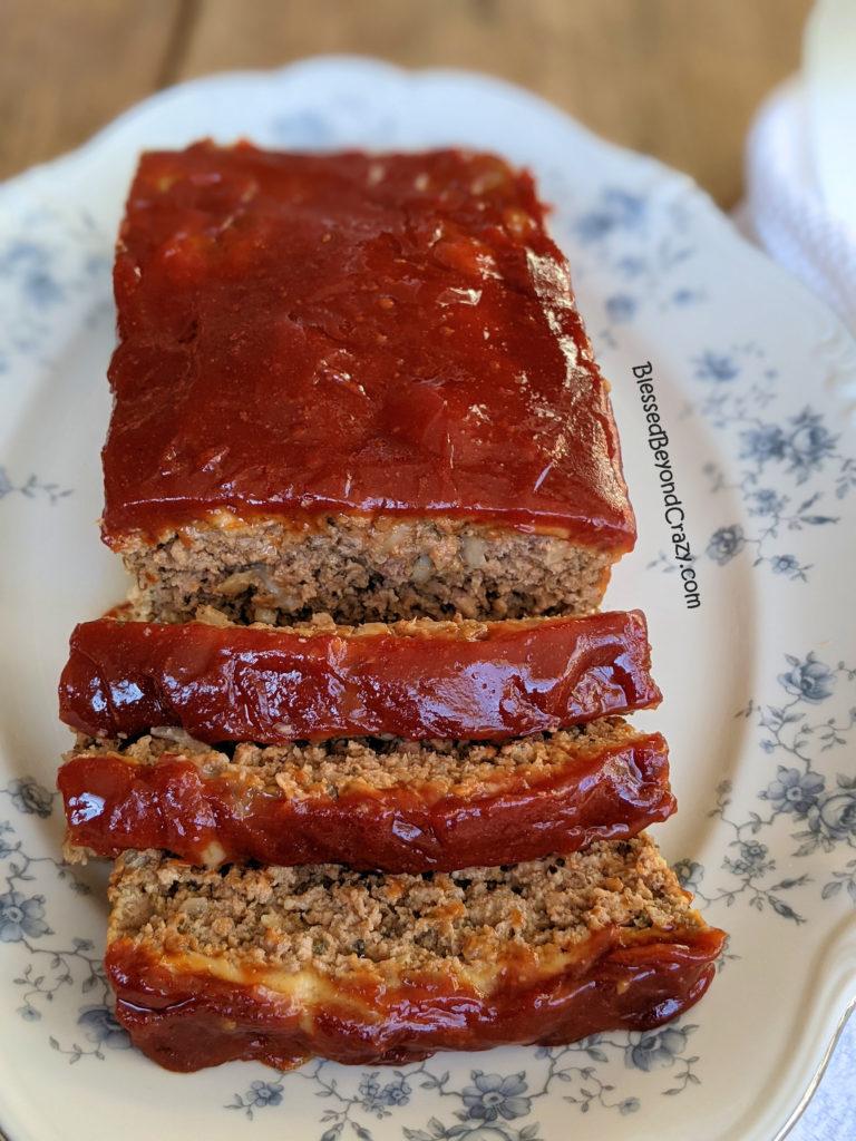 Slices of Grandma's Best Meatloaf Recipe