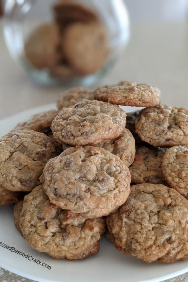 Close up of plate of Island Treasure Cookie Recipe with Gluten-Free Option