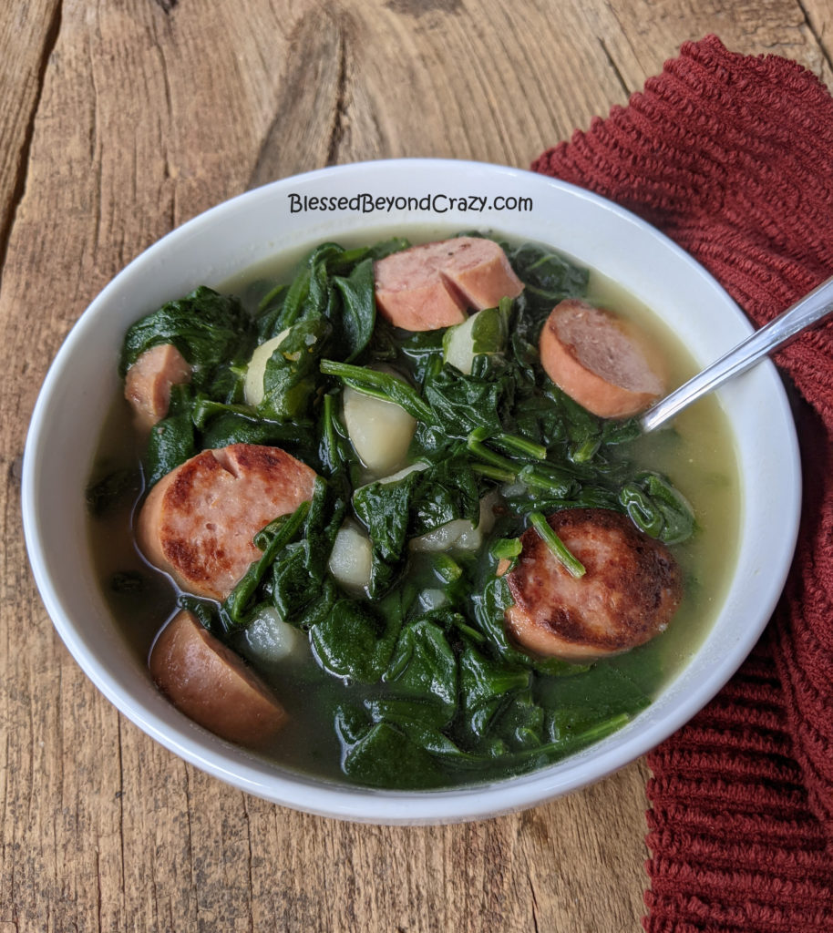 Single serving of Grandma's Old-Fashioned Spinach Stew