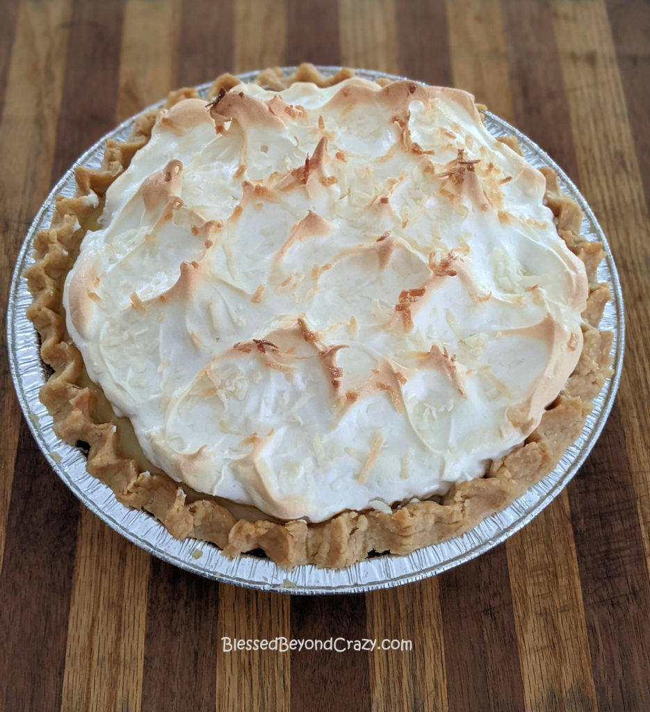 Gifting a freshly made Coconut Cream Pie (Gluten-Free Option)