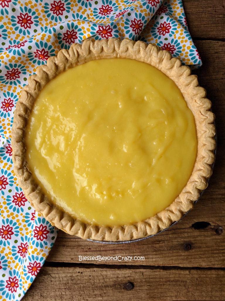 Lemon filling for Easy Lemon Meringue Pie (Gluten-Free Option)