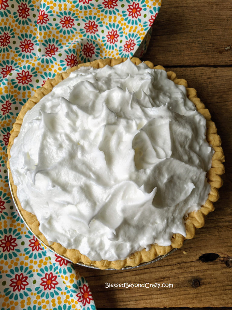 Meringue topping on Easy Lemon Meringue Pie (Gluten-Free Option)