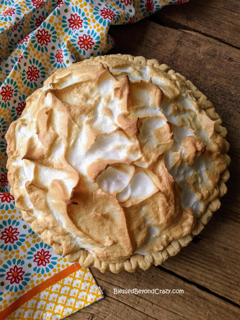 Overhead view of Easy Lemon Meringue Pie (Gluten-Free Option)