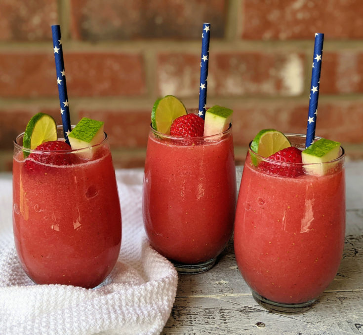 Easy Strawberry Watermelon Lime Smoothies