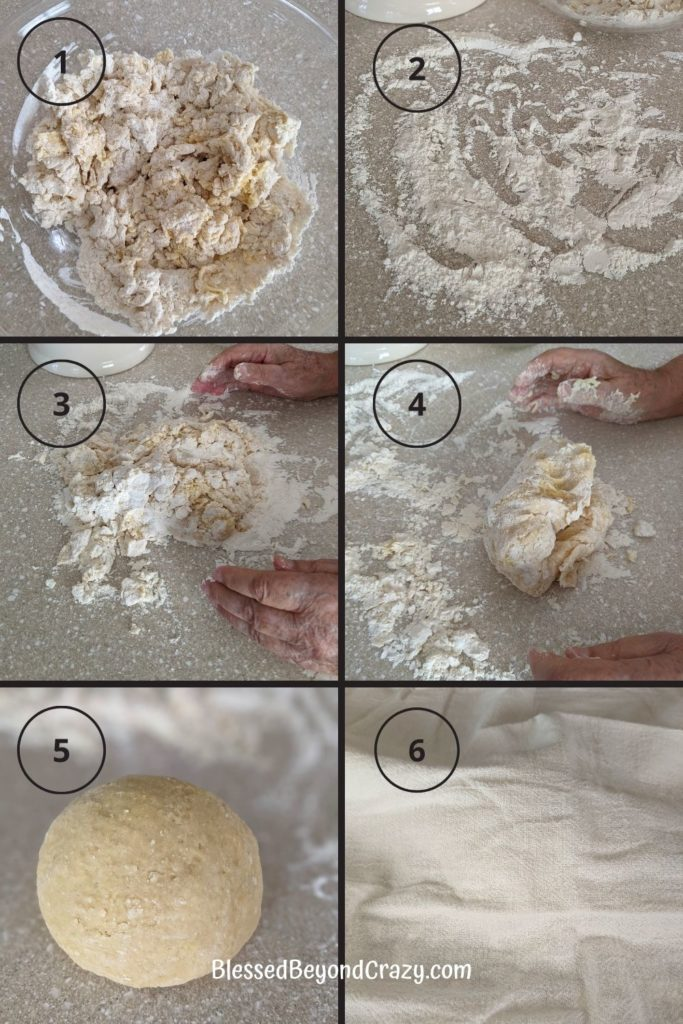 The second six steps to homemade noodles.